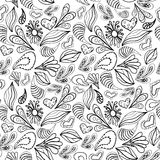 Abstract pattern black outline on white. royalty free stock photography