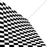 Abstract pattern, black and white, curvature of space, angle of. The wall Stock Photo