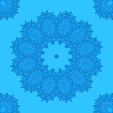 Abstract pattern on blue Royalty Free Stock Image