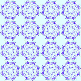 Abstract pattern of blue floral ornaments. Royalty Free Stock Photography