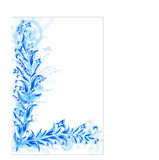 Abstract pattern of blue plants Royalty Free Stock Images