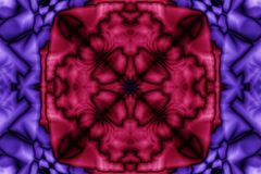 Abstract symmetrical pattern in blue and red. Abstract pattern in blue and red with elements of symmetry Royalty Free Stock Photos