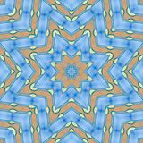 Abstract pattern of blue sea, sky and sand vector illustration