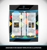Abstract pattern brochure design layout template Royalty Free Stock Image