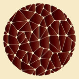 Abstract pattern of brown geometric elements grouped in a circle Royalty Free Stock Photography