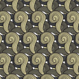 Abstract pattern of brown wool curls Stock Images