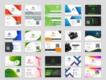 Abstract pattern Business card collection with front and back pr. Esentation royalty free illustration