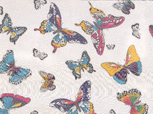 Abstract pattern with butterflies. Stock Photo