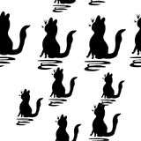 Abstract pattern with cats Stock Image