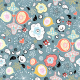 Abstract pattern with cheerful drops Royalty Free Stock Photography
