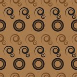 Abstract pattern with circles and curls Stock Photos