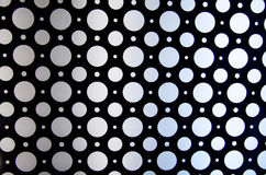Abstract pattern of circles with luminous light. Light gets brighter from left to right Stock Image