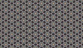 Abstract pattern of circles radiating stars. Creative Design Templates Stock Image