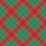 Abstract Pattern with classic plaid Fabric on a green background. Royalty Free Stock Images