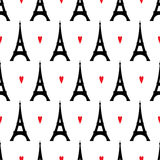 Abstract pattern with closed eyes and red hearts. Royalty Free Stock Photos