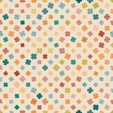 Abstract pattern clover pale Stock Photo
