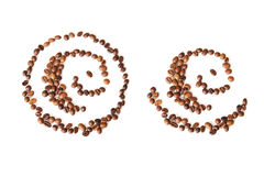 Abstract pattern of coffee beans Stock Images