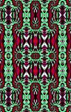Abstract pattern of colored wavy strips. Oil paint effect. Vector. Unique abstract illustration and decoration. Texture of painted paper. Green and red, violet vector illustration