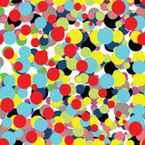 Abstract pattern with colorful bright dots Royalty Free Stock Photography