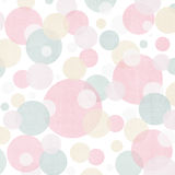 Abstract pattern with colorful circles. Pastel abstract pattern with colorful circles Stock Photo