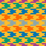 Abstract pattern with colorful figures Stock Photo