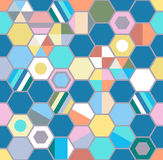 Abstract pattern with colorful geometric shapes. Seamless abstract pattern with colorful geometric shapes Royalty Free Stock Photography