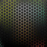 Abstract pattern with colorful hexagons. Stock Image