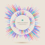 Abstract pattern of colorful lines for cover presentation. Illustration vector eps10 Stock Photography