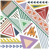 Abstract pattern of colorful shapes Stock Photography