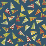 Abstract pattern with colorful triangles. Seamless. Royalty Free Stock Images