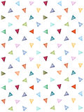 Abstract pattern of colorful watercolor triangles. Pastel colors. Hand painted geometric pattern.Perfect for background, texture,wrappering paper, wallpaper Stock Photos
