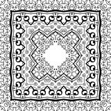 Abstract Pattern for coloring book page. Ethnic pattern. Zentangle style. Abstract Pattern for coloring book. Ethnic floral retro doodle tribal design element Stock Photo