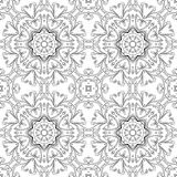 Abstract pattern, contours. Abstract floral pattern, black contours on white background. Vector Stock Photos