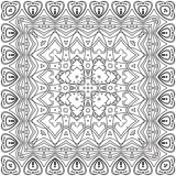 Abstract pattern, contours. Abstract floral pattern, black contours on white background. Vector Royalty Free Stock Images