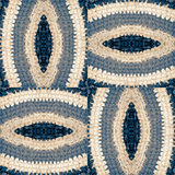 Abstract pattern from crocheted parts of the Mat Stock Image
