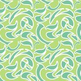 Abstract pattern with curved elements. Vector background seamless green camouflage Stock Photo