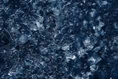 Abstract pattern of dark blue ice Royalty Free Stock Images
