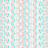 Abstract Pattern. Decorative abstract pattern illustrations in aqua and coral colors Stock Images