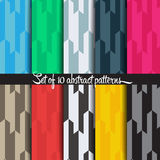 Abstract pattern. 10 different vector patterns. Endless texture can be used for wallpaper, pattern fills, web page background,surface textures. Set of monochrome Stock Image