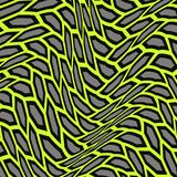 Abstract pattern of distorted shapes. The geometric movement of waves. Stock Photography