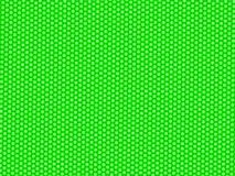 Abstract pattern of dots, circles and hexagons on green surface. Abstract pattern of dots, circles and hexagons in white and green royalty free illustration
