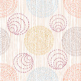 Abstract pattern with ethnic ornaments Stock Photography