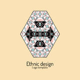 Abstract pattern in ethnic style. Logo template. Hand drawn vector Stock Photos