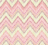 Abstract  pattern. Fabric doodle zig zag line ornament Royalty Free Stock Images