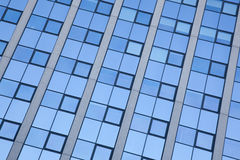 Abstract pattern on facade of office building Stock Photo