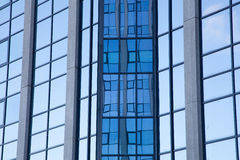 Abstract pattern on facade of office building Royalty Free Stock Image