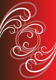 An abstract pattern fantasy. On dark red background Stock Photo