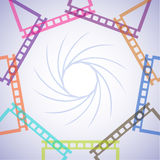 Abstract pattern from film frames. On the image it is presented abstract pattern from film frames royalty free illustration