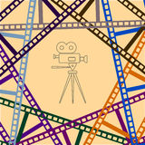 Abstract pattern from film frames. On the image it is presented abstract pattern from film frames stock illustration
