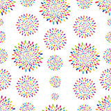 Abstract pattern. Firework spot circle ornament Stock Photography